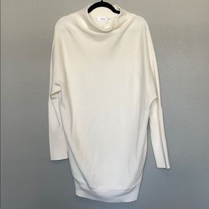 Ribbed mock sweater tunic